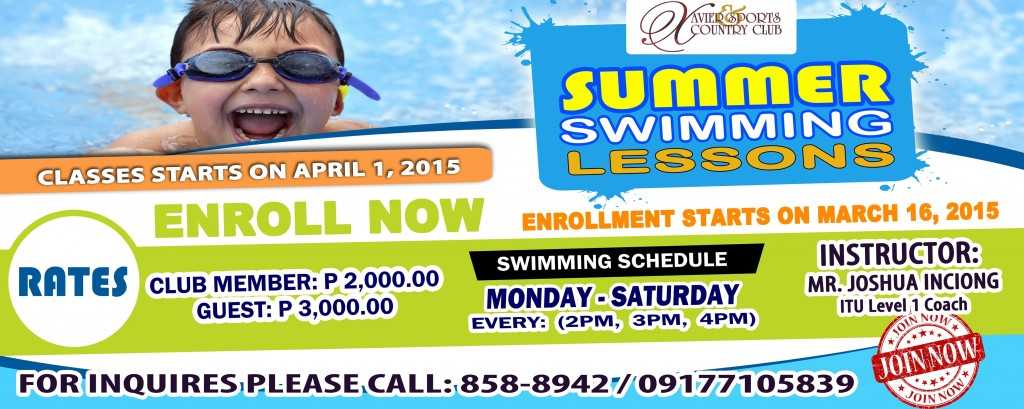 Summer Swimming Lesson 2015